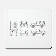 Jeep JK Wrangler Multi View Mousepad