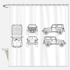 Jeep JK Wrangler Multi View Shower Curtain