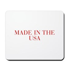 Made in the USA-Bau red 500 Mousepad