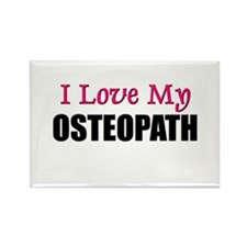 I Love My OSTEOPATH Rectangle Magnet
