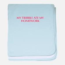 My tribble ate my homework-Opt red 550 baby blanke