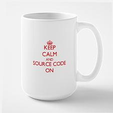 Keep Calm and Source Code ON Mugs