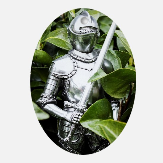 Green Knight Oval Ornament