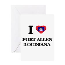 I love Port Allen Louisiana Greeting Cards