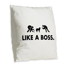 Maremma Sheepdog Burlap Throw Pillow