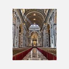 St. Peter's Basilica Throw Blanket