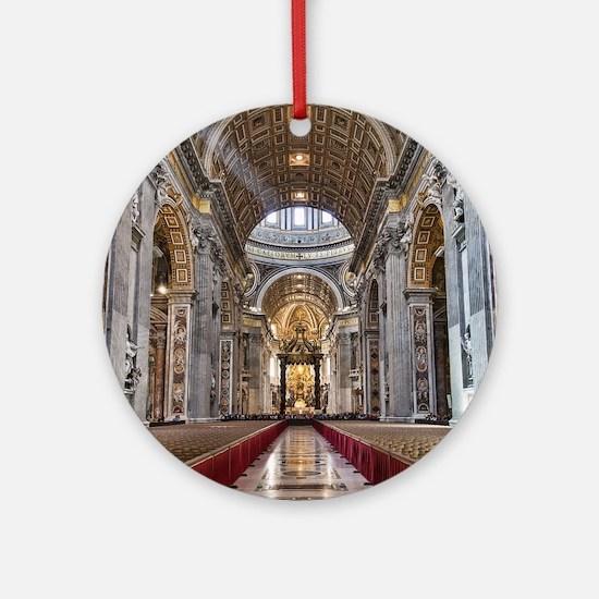 St. Peter's Basilica Round Ornament