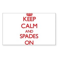 Keep Calm and Spades ON Decal