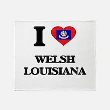 I love Welsh Louisiana Throw Blanket