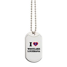 I love Westlake Louisiana Dog Tags