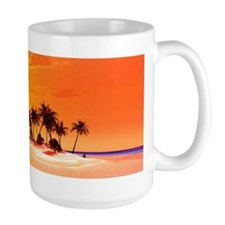 Beautiful tropical island Mugs