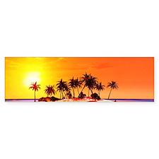 Beautiful tropical island Bumper Bumper Sticker