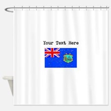 Old St Helena Flag Shower Curtain