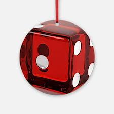 Red Die Round Ornament