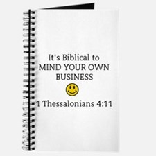 Mind Your Own Business, It's Biblical Journal