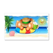 Summer Relax on the Sea Car Magnet 20 x 12