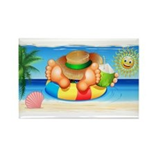 Summer Relax on the Sea Magnets