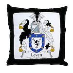 Levett Family Crest Throw Pillow