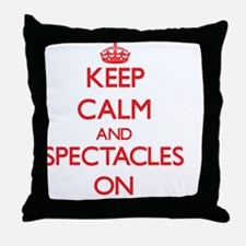 Keep Calm and Spectacles ON Throw Pillow