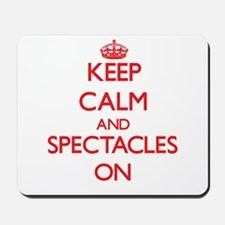 Keep Calm and Spectacles ON Mousepad
