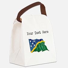 Solomon Islands Flag Canvas Lunch Bag