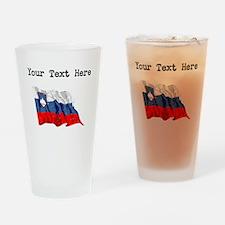 Slovenia Flag Drinking Glass