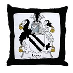 Lever Family Crest Throw Pillow