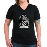 Lever Family Crest Women's V-Neck Dark T-Shirt