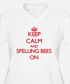 Keep Calm and Spelling Bees ON Plus Size T-Shirt