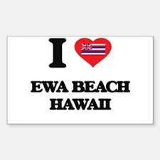 I love Ewa Beach Hawaii Decal
