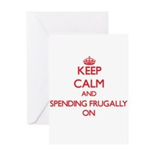 Keep Calm and Spending Frugally ON Greeting Cards