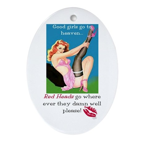Redheads Go Anywhere Oval Ornament