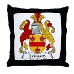 Lennard Family Crest Throw Pillow