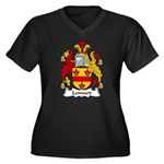 Lennard Family Crest Women's Plus Size V-Neck Dark