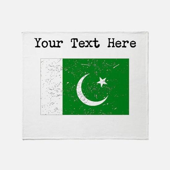 Pakistan Flag Throw Blanket