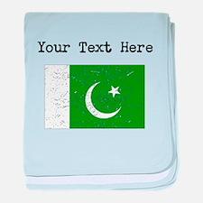 Pakistan Flag baby blanket
