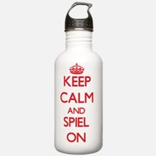 Keep Calm and Spiel ON Water Bottle