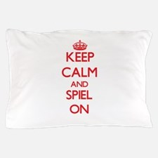 Keep Calm and Spiel ON Pillow Case
