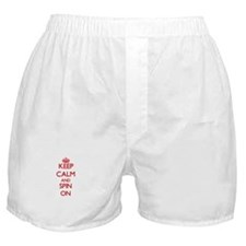 Keep Calm and Spin ON Boxer Shorts