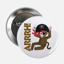 "Pirate Monkey 2.25"" Button (100 pack)"