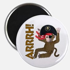 "Pirate Monkey 2.25"" Magnet (10 pack)"