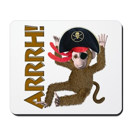Pirate Monkey Mousepad
