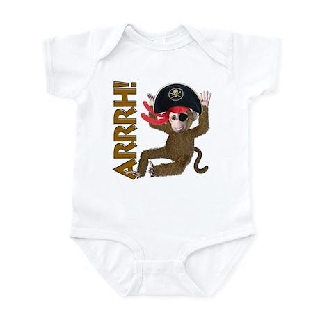 Pirate Monkey Infant Bodysuit