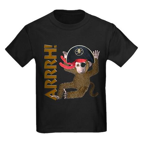 Pirate Monkey Kids Dark T-Shirt