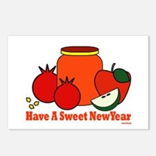 Jewish Sweet New Year Postcards (Package of 8)