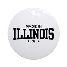 Made in Illinois Ornament (Round)