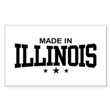 Made in Illinois Rectangle Decal