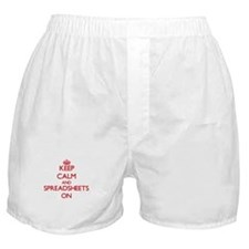 Keep Calm and Spreadsheets ON Boxer Shorts