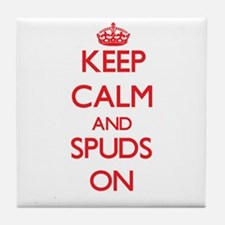 Keep Calm and Spuds ON Tile Coaster