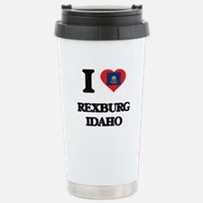 I love Rexburg Idaho Stainless Steel Travel Mug